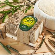 Натуральное оливковое мыло Korkut Olive Oil soap with Wooden Dish  180 гр