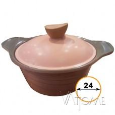 КАСТРЮЛЯ FLOTT  розовый/серый, 24см, SHF6550