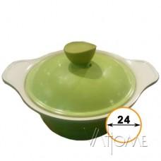 КАСТРЮЛЯ FLOTT  салат/белый, 24см, SHF6555